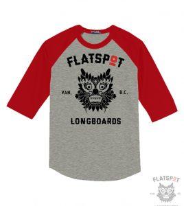 flatspot-baseball-tee-red