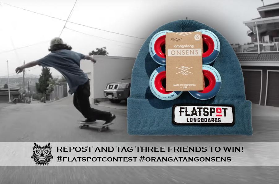 Flatspot Orangatang Onsen Contest #Flatspotcontest longboarding
