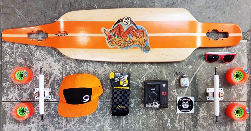 social-flatspotdeckoftheday-caliber-trucks-orangatang-wheels-kegels-death-lens-longboard-larry-screaming-mary-drop-deck-longboarding-flatspot-longboards
